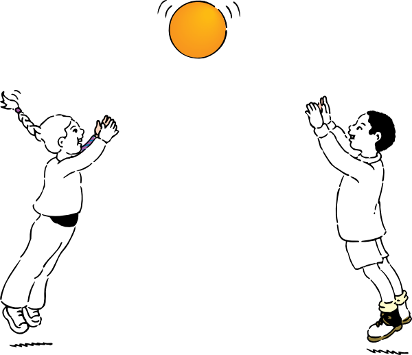 Game clipart ball. Playing line drawing clip