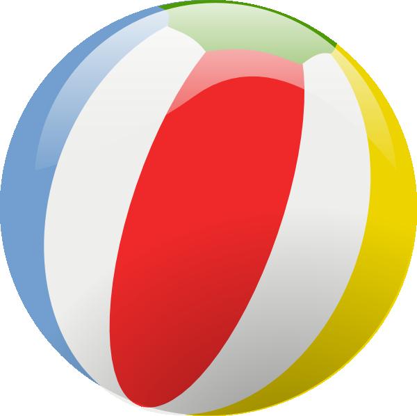 Beachball clipart colourful ball. Beach clip art at