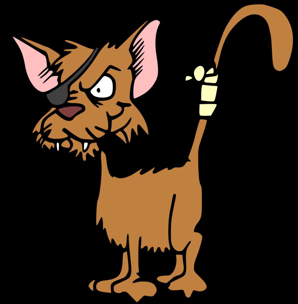 Clipart cat illustration. Public domain clip art