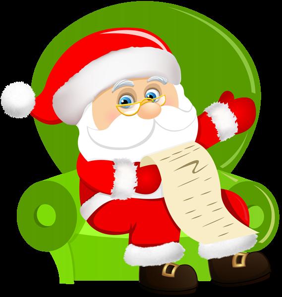 Santa clipart airplane. Claus sitting on chair