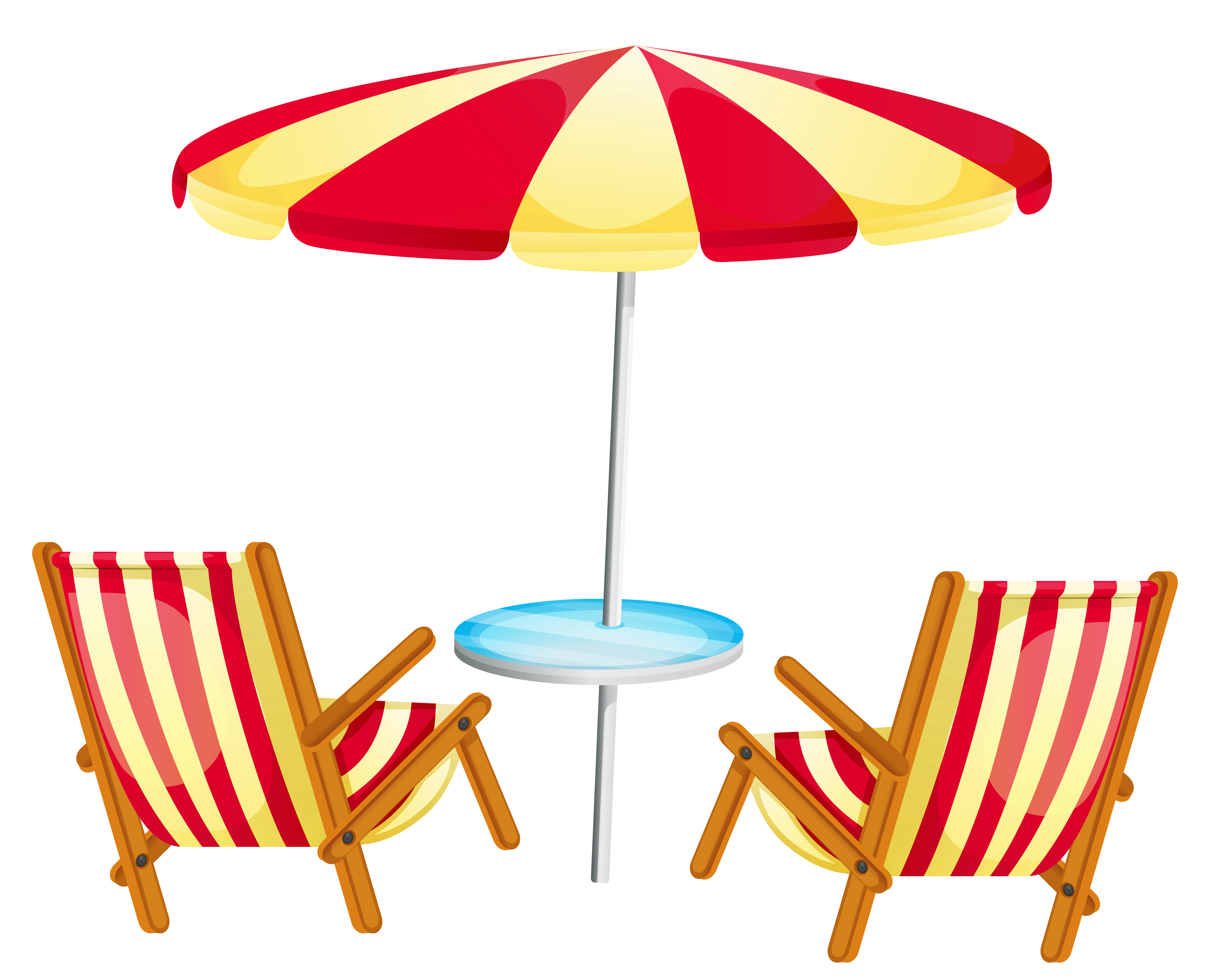Transparent beach umbrella with. Clipart chair piano