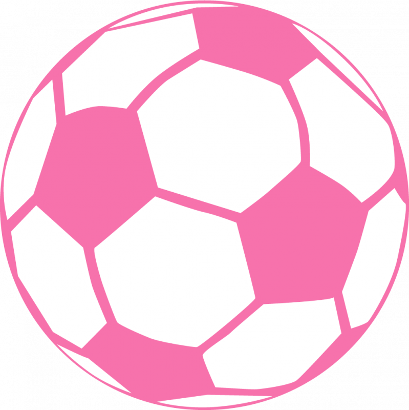 Decoration clipart soccer. Pink ball more craft