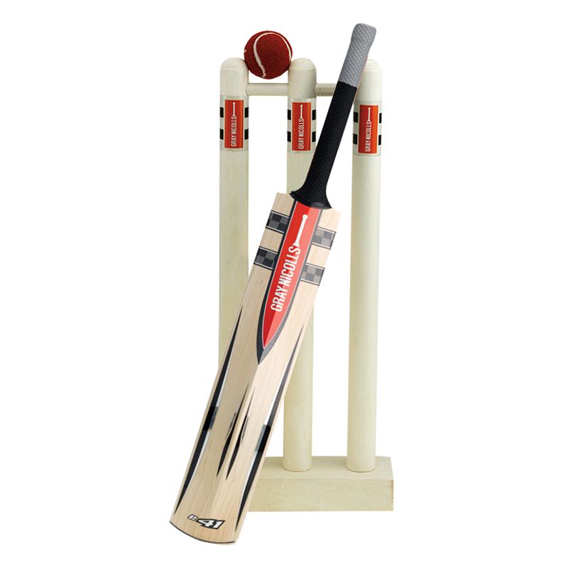 And mini stumps set. Clipart ball cricket bat