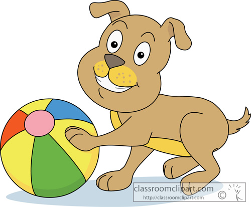 Dogs clipart ball. Free playing dog cliparts