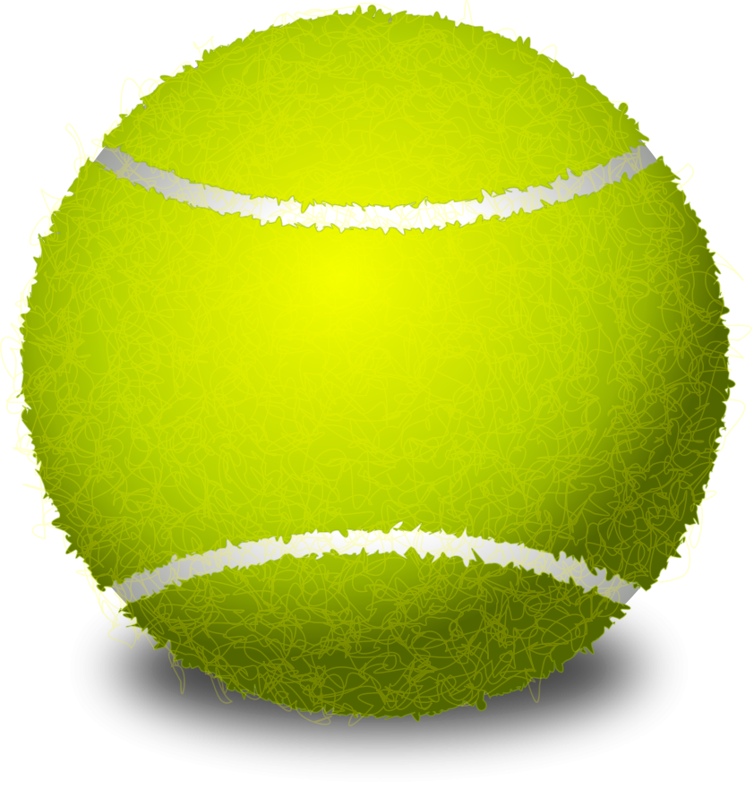 Tennis pencil and in. Clipart ball dog