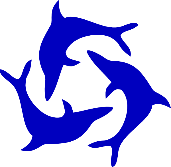 Dolphin clipart dolphin love. Image clip art black