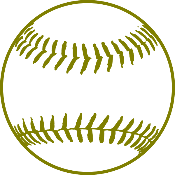 Gold clip art at. Softball clipart green