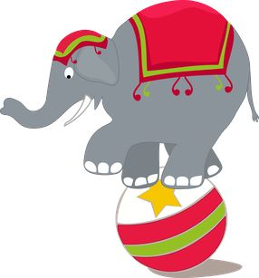 Clipart elephant ball. Free circus cliparts download
