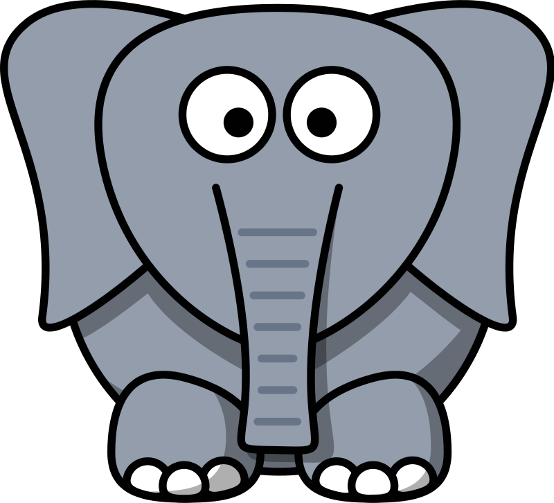 Cartoon at getdrawings com. Fat clipart fat elephant