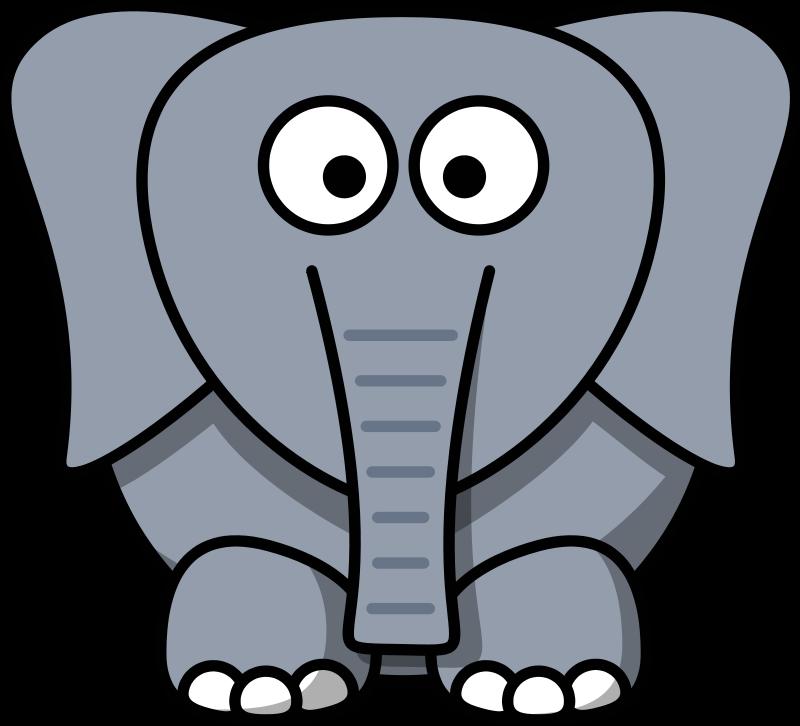 Horn clipart elephant. Cartoon at getdrawings com