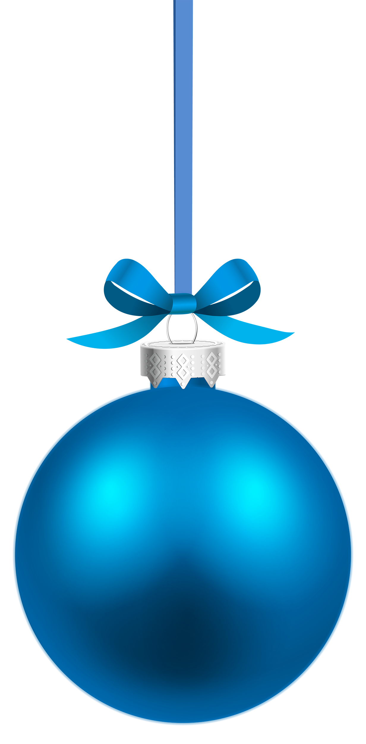 Blue hanging christmas ball. Ornament clipart file