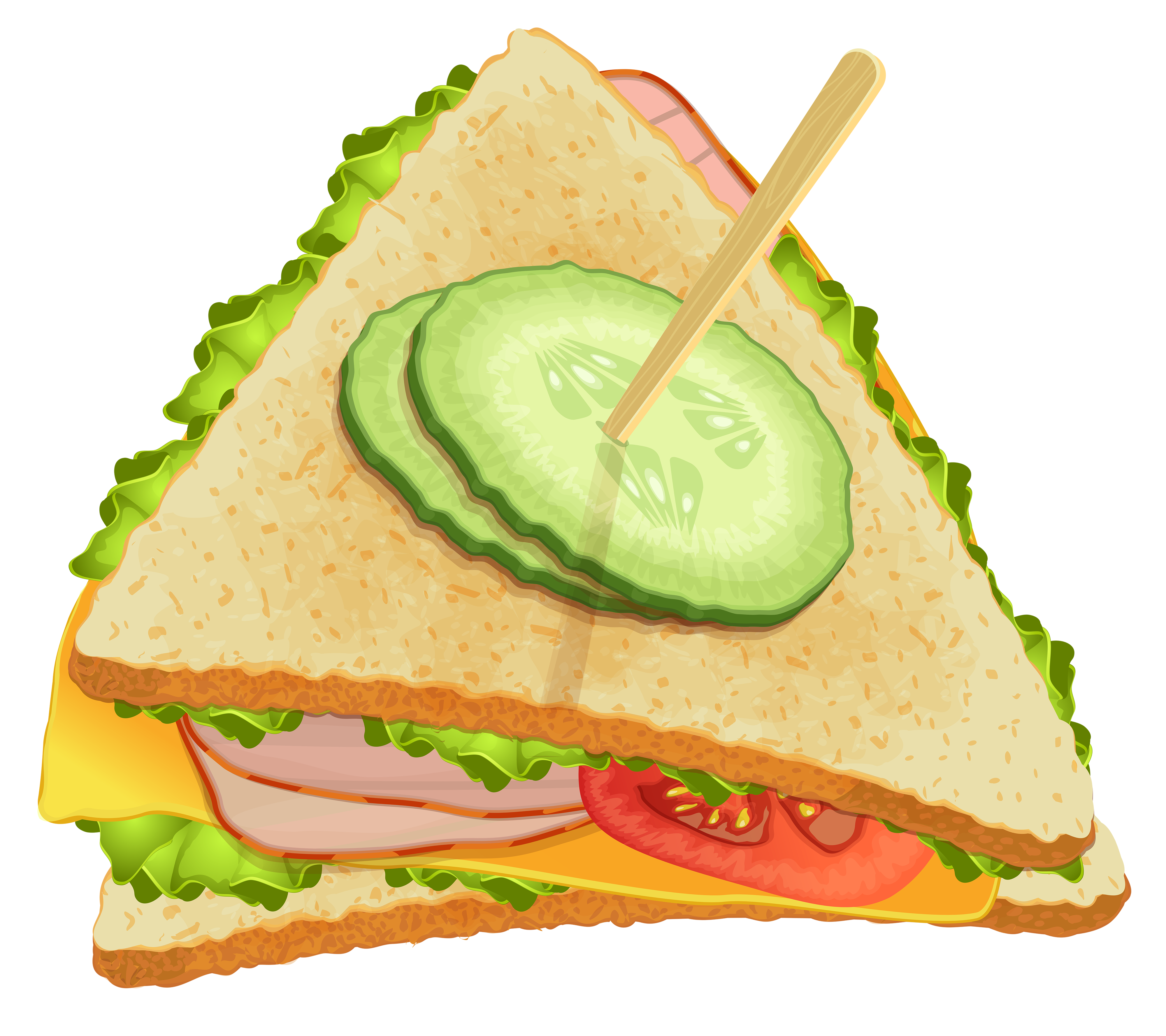 Triangle sandwich png best. Clipart umbrella triangular