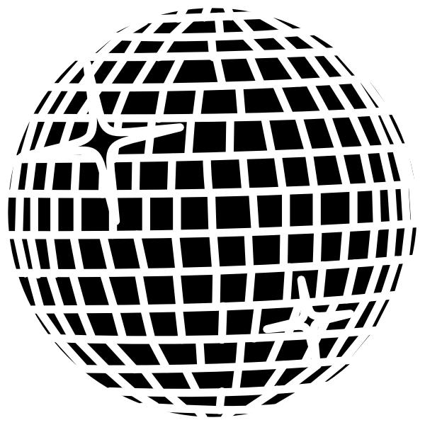 Image group snow schwarz. Disco clipart disco ball