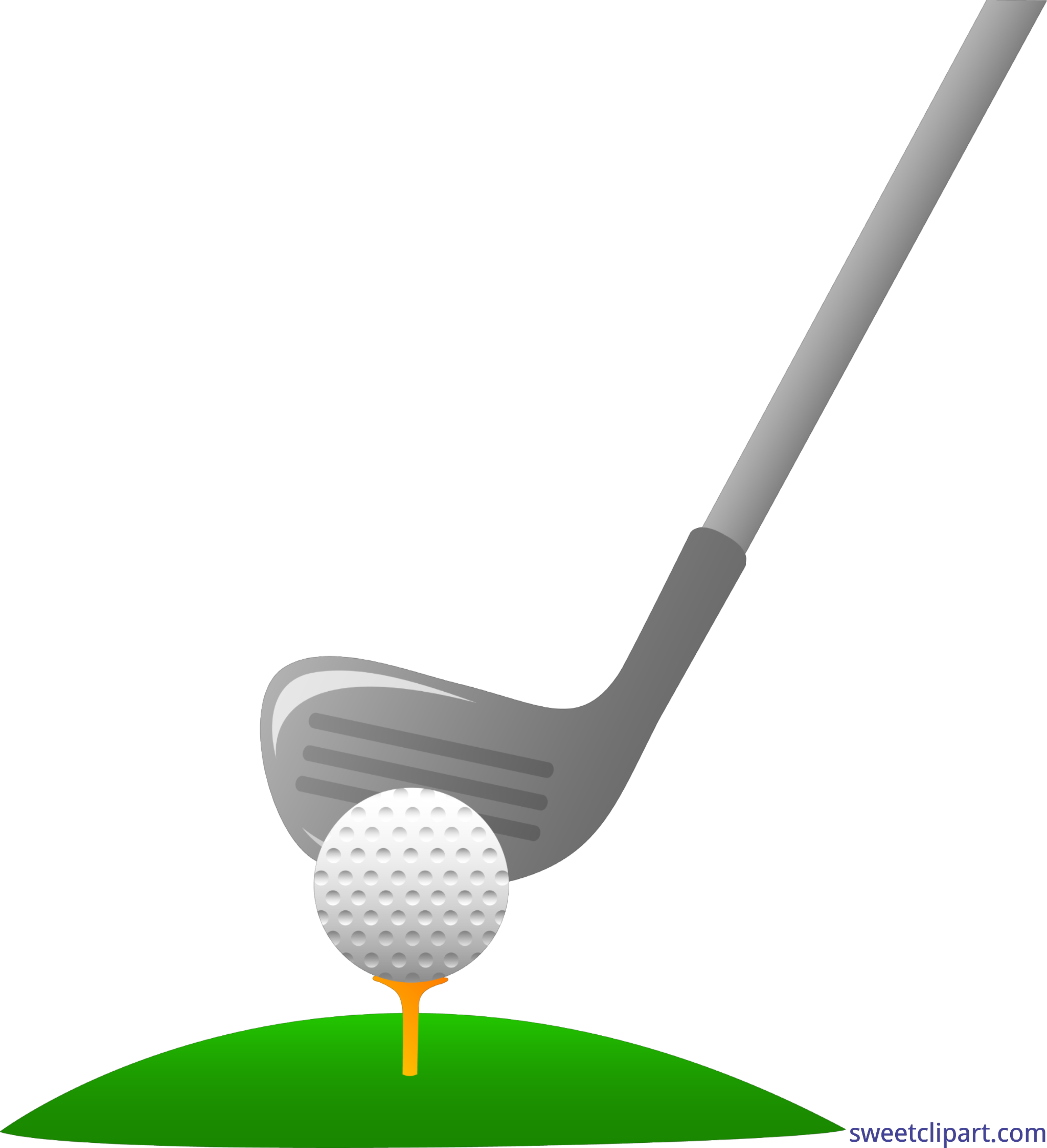 Club clipart number 1. Golf and ball clip