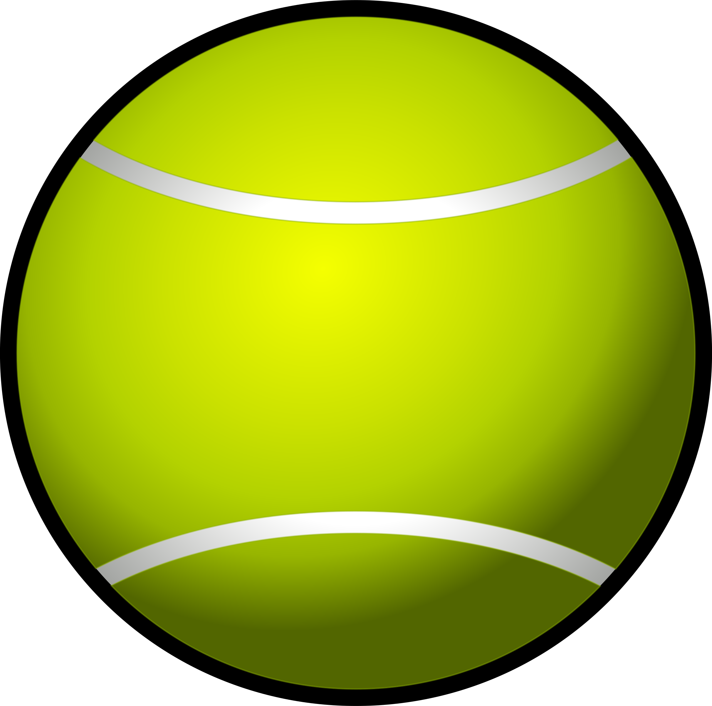 Club clipart ball. Tennis simple big image