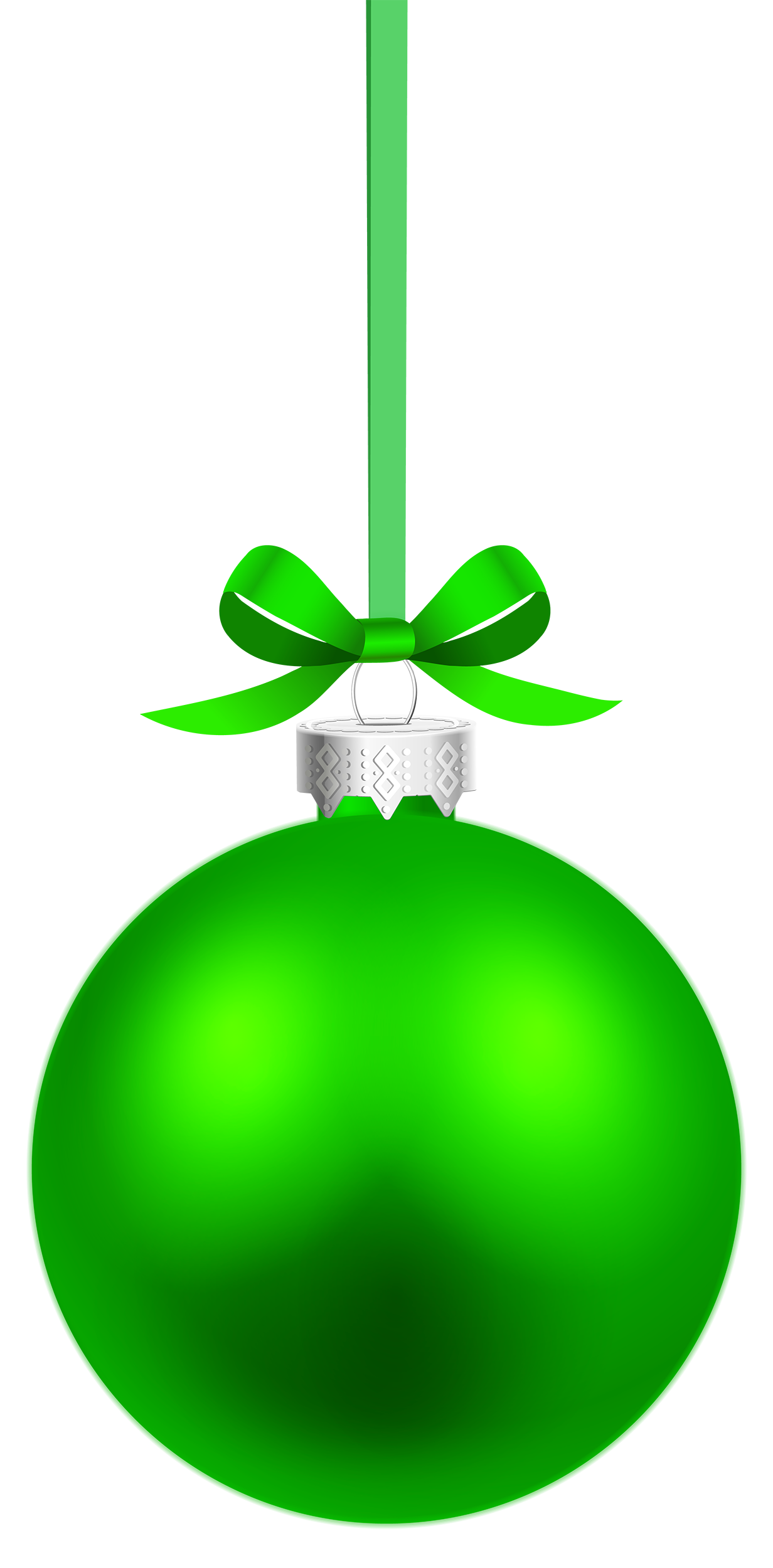 Green hanging christmas png. Clipart box ball