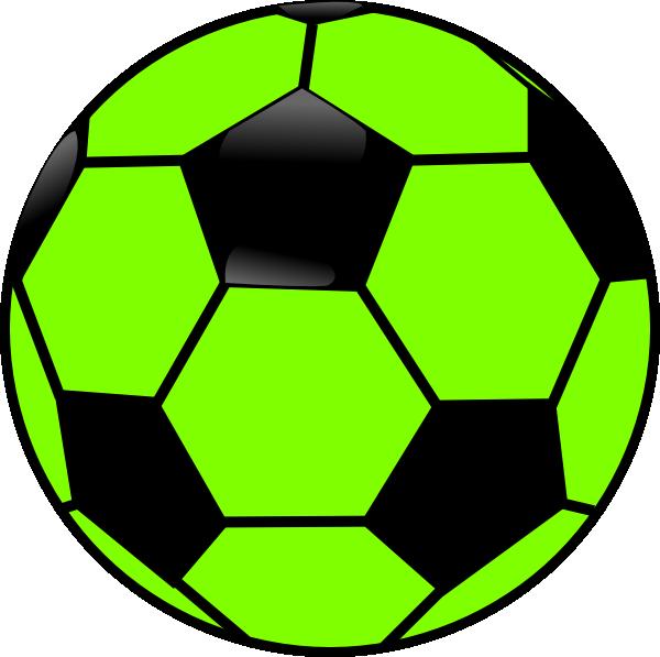 Clipart football vector. Green and black soccer