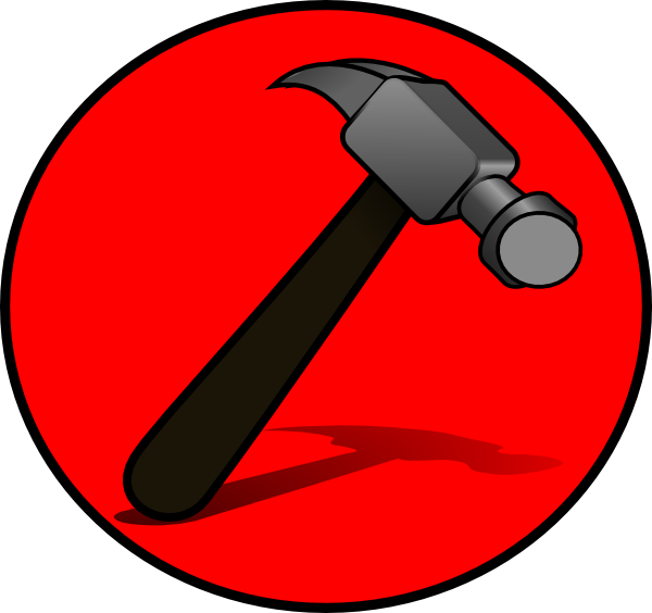 Hammer clipart pink. Icon clip art at