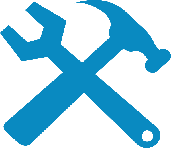 Paintbrush clipart hammer. And wrench silhouette png