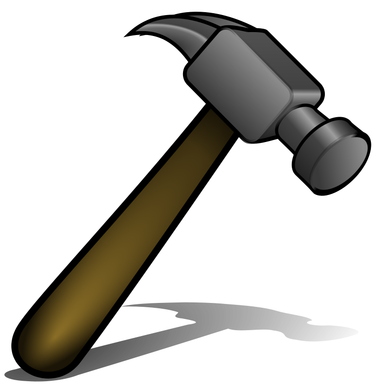 huge freebie download. Paintbrush clipart hammer