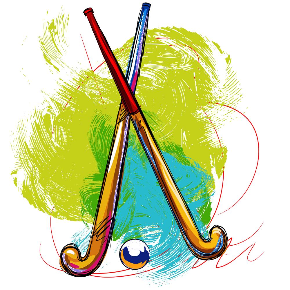 Golf clipart hockey ball. Field stick transprent png