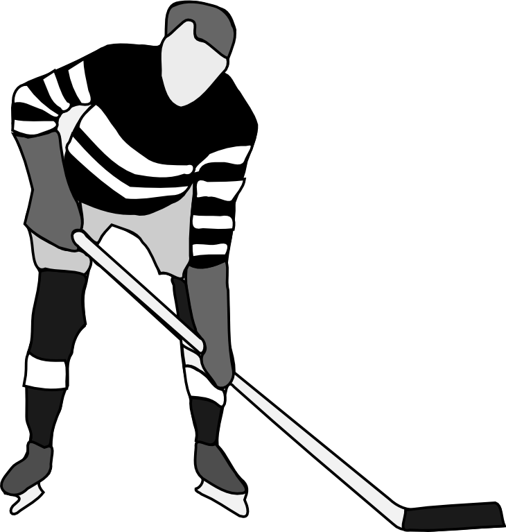 Field stick drawing at. Girl clipart hockey