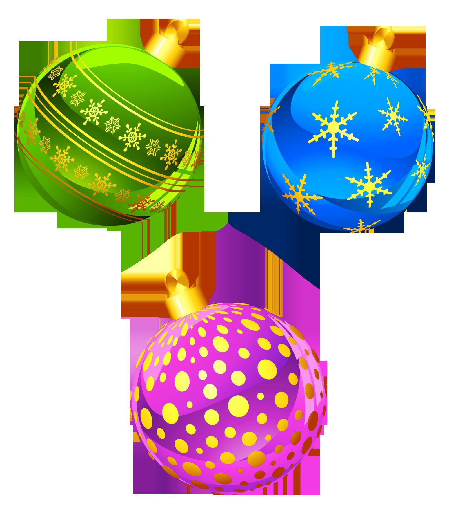 Christmas ornaments clip art. Holidays clipart printable