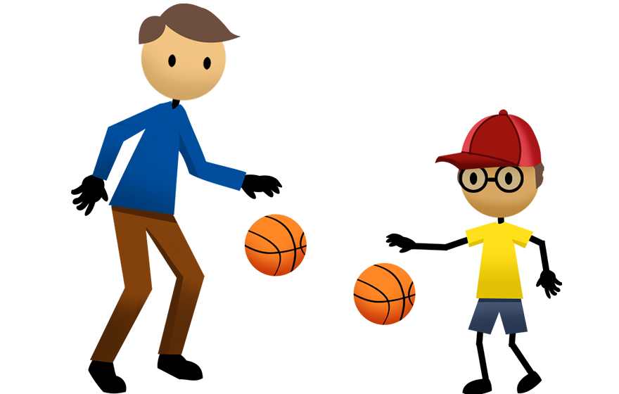 Activities active for life. Clipart boy basketball player
