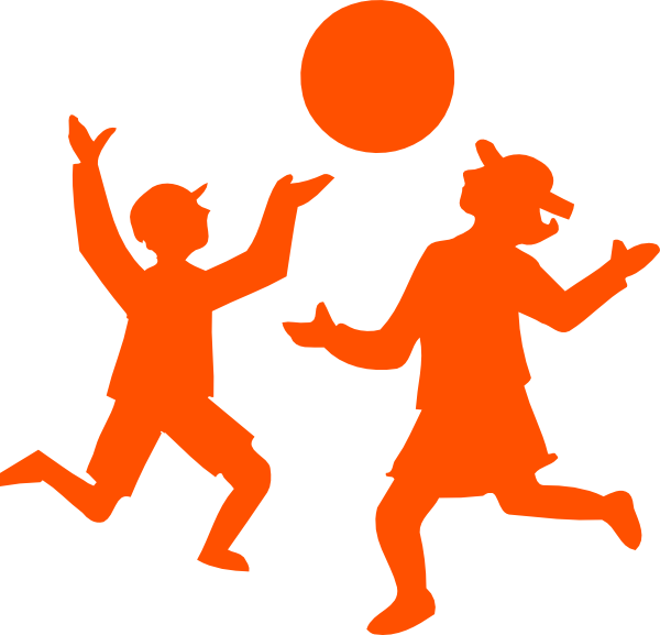 Kids playing outside at. Game clipart outdoor game
