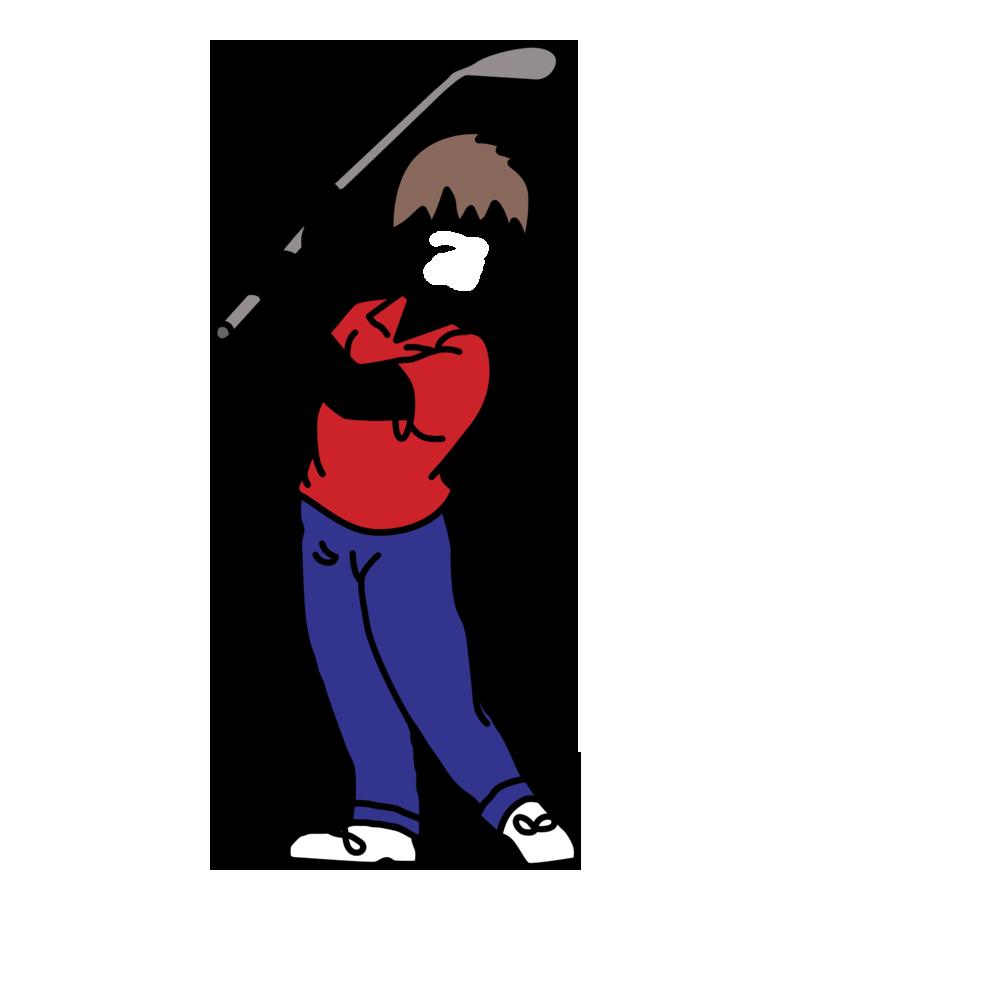 Mini golf birthday party. Golfing clipart child
