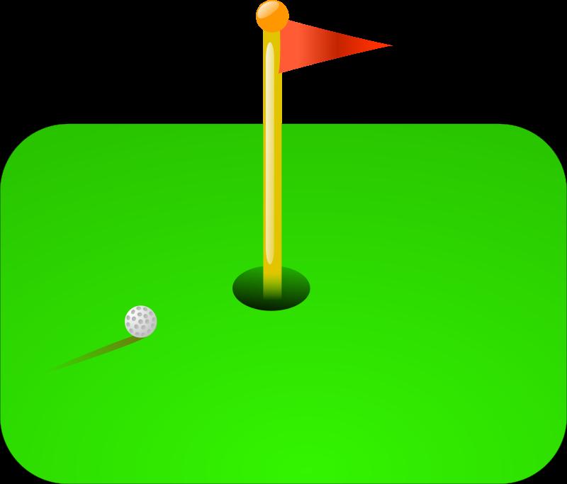 Golf flag medium image. Hole clipart road