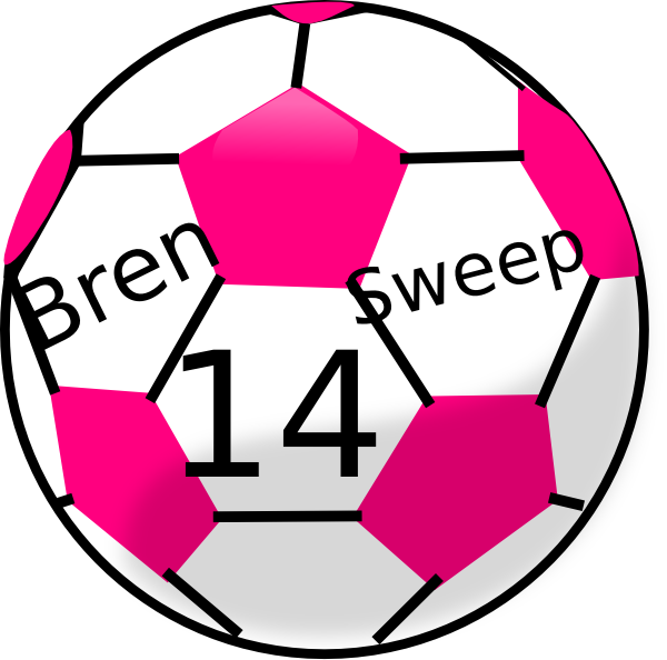 Heart clipart soccer. Pink ball panda free