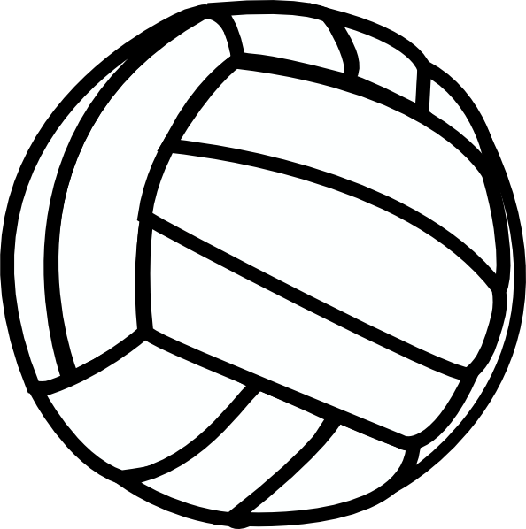 Clip art at clker. Volleyball clipart water