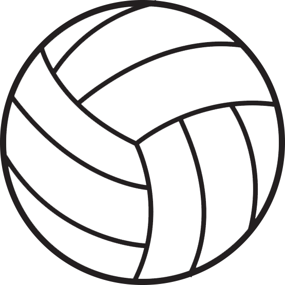 Hand clipart volleyball. Ball drawing at getdrawings
