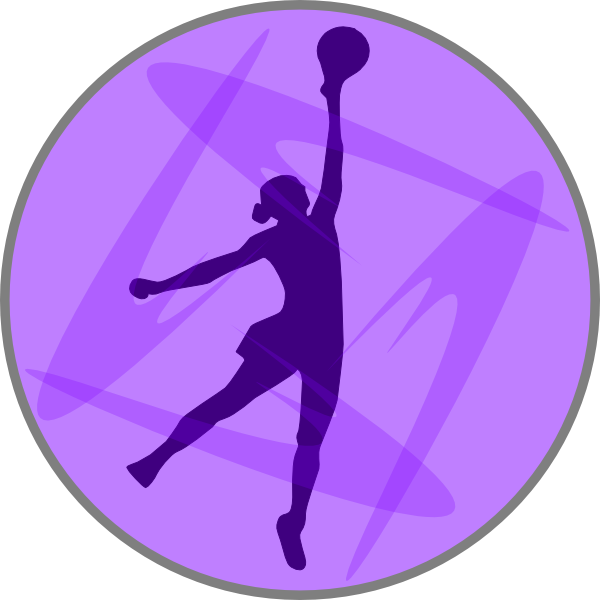 Sports clipart netball. Lilac clip art at