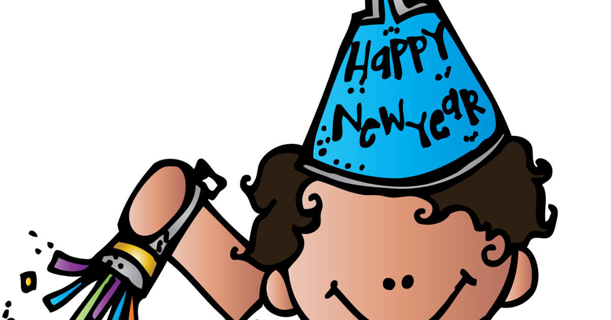 Happy new year. Pajamas clipart melonheadz
