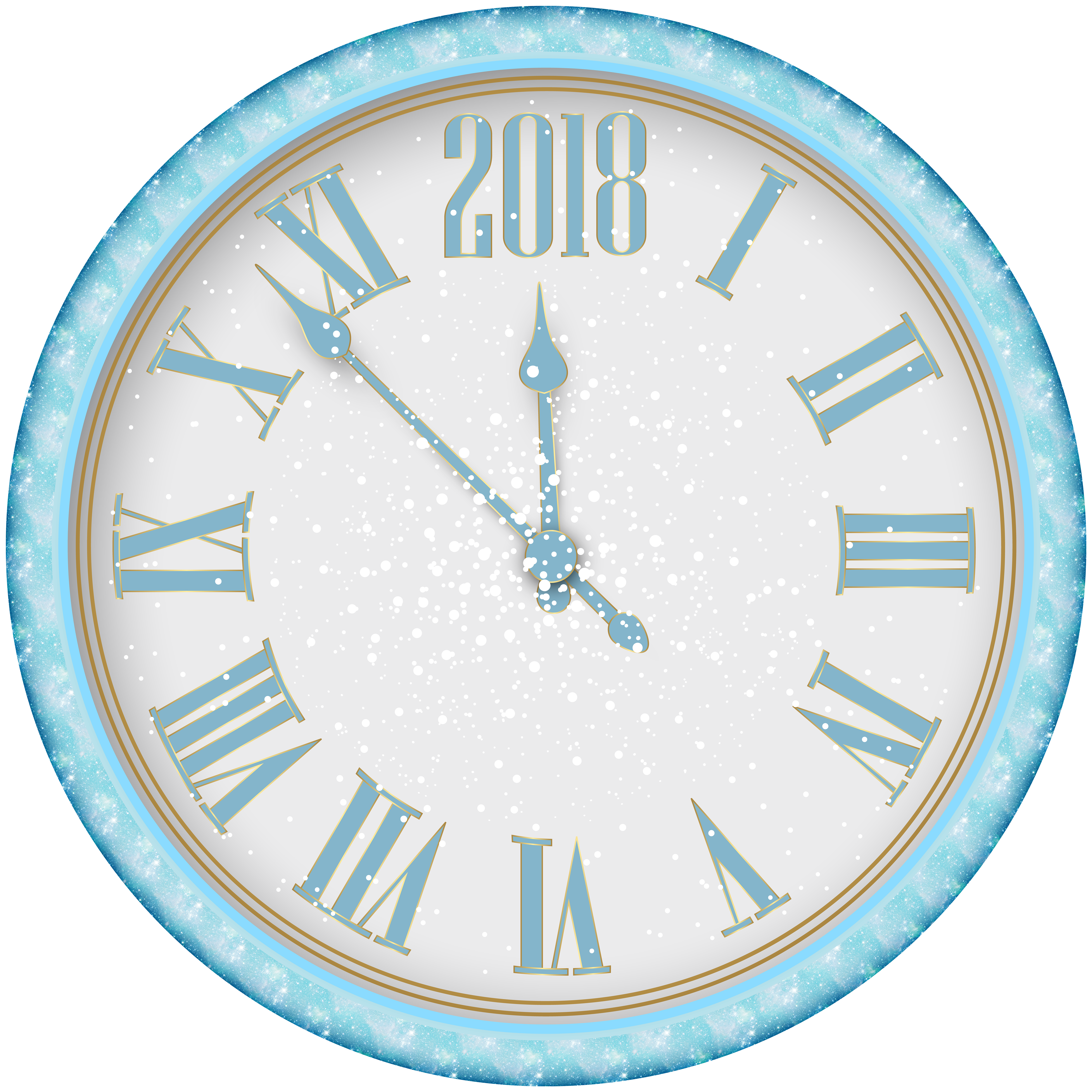 snowy clock png. Clocks clipart new year
