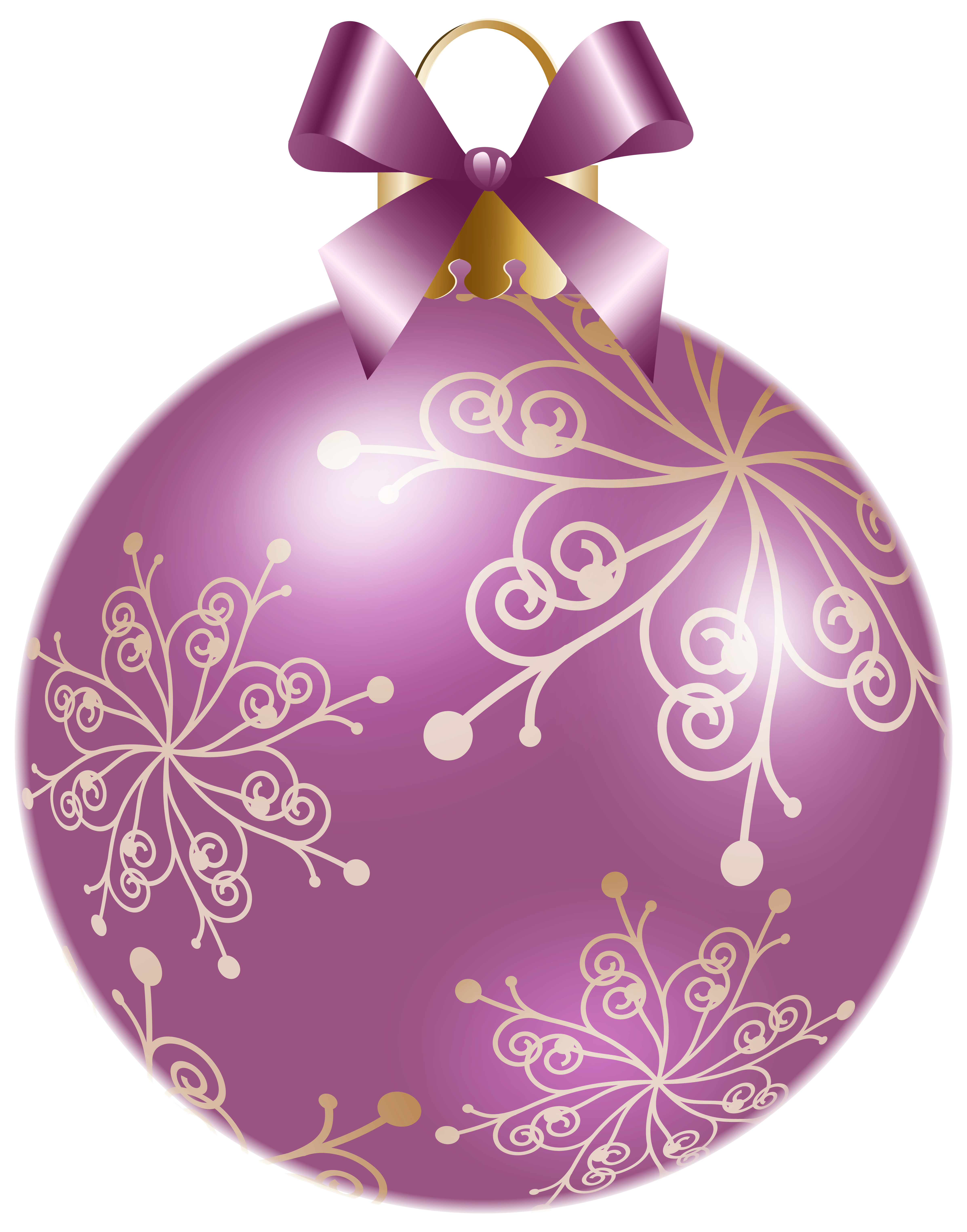 Clipart christmas purple. Soft violet ball png