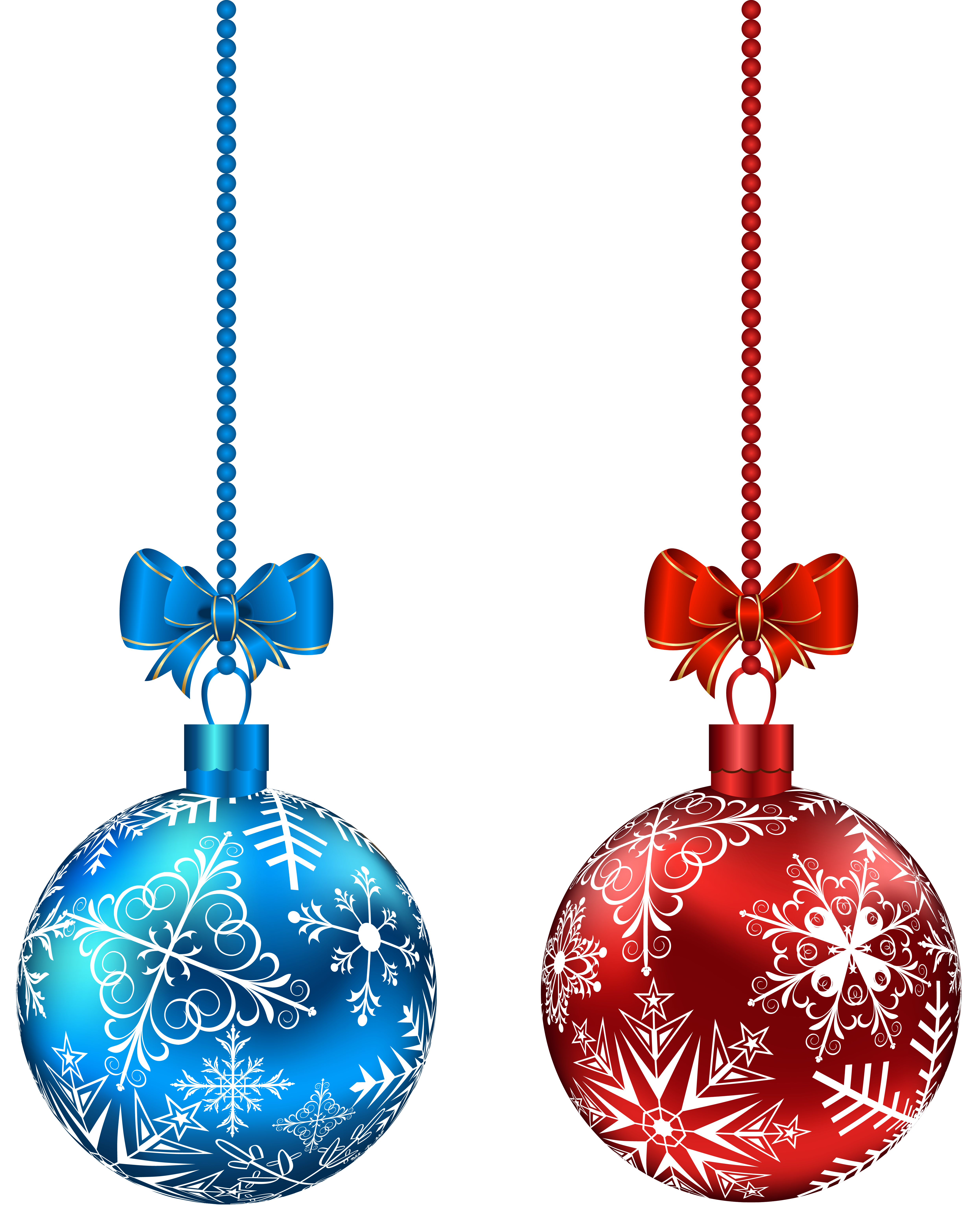 Blue and red hanging. Winter clipart accessory