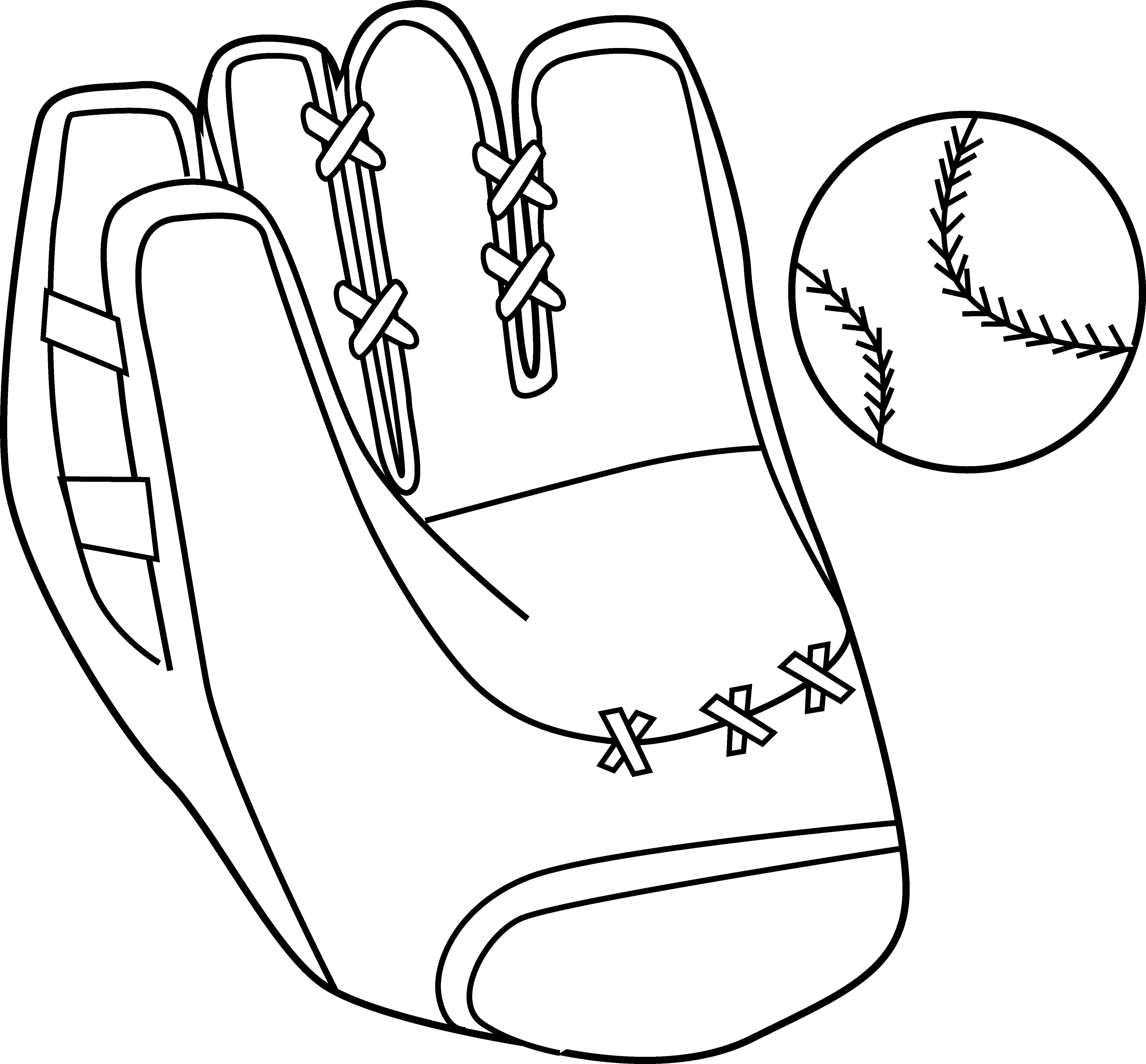 Mittens clipart mitten pattern. Baseball mitt and ball