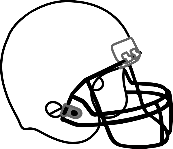 Color clipart football player. Ball helmet stencil free