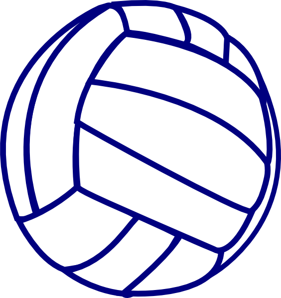Blue outline clip art. Clipart volleyball angry