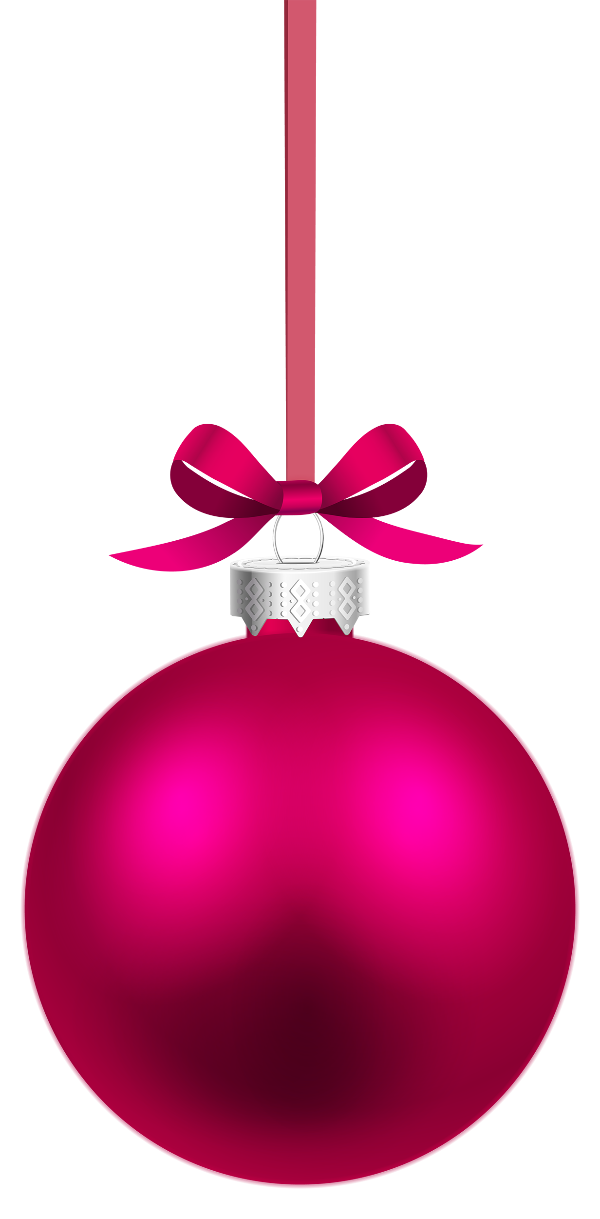 Ornaments clipart craft. Pink hanging christmas ball