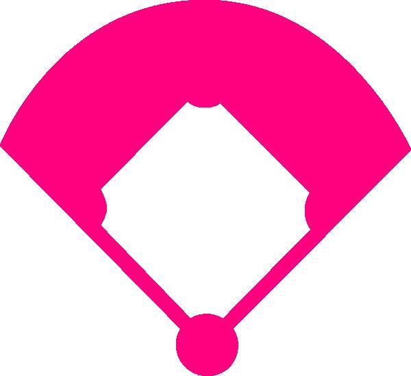 Field pink clip art. Girly clipart baseball