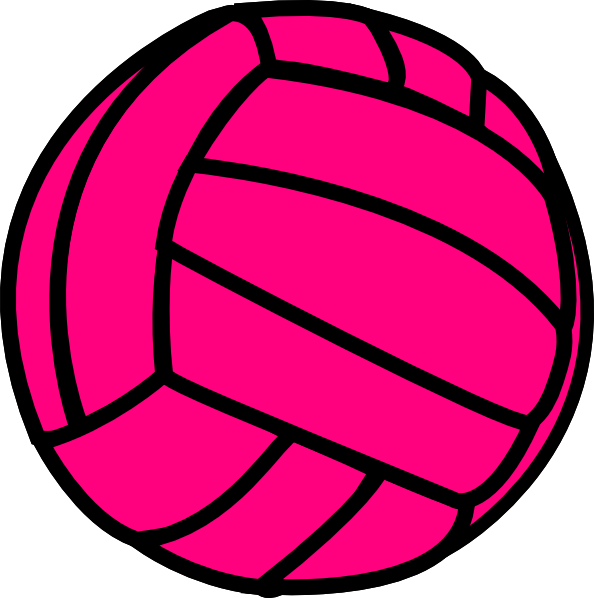 Pink clip art at. Hand clipart volleyball