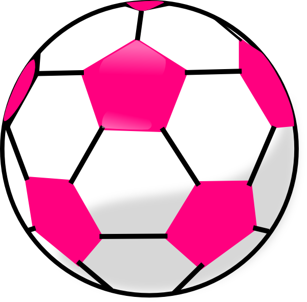 Picture clipart ball. Soccer with hot pink