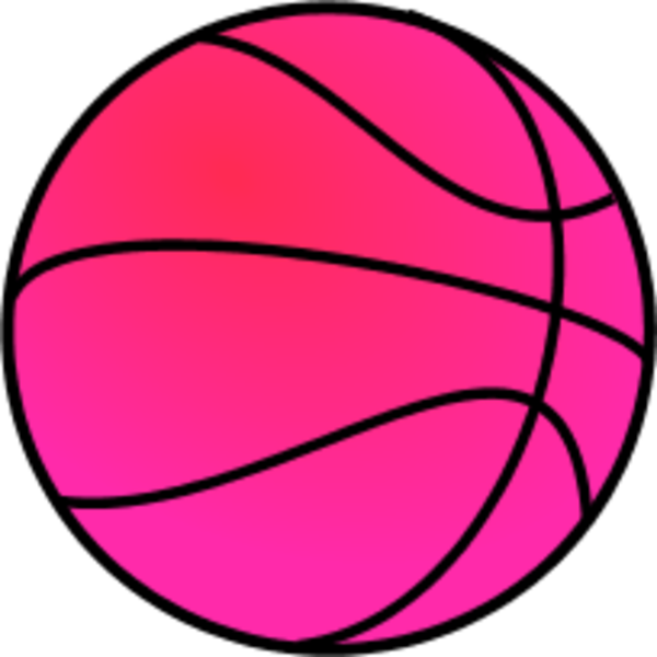 Fight clipart vector. Pink basketball
