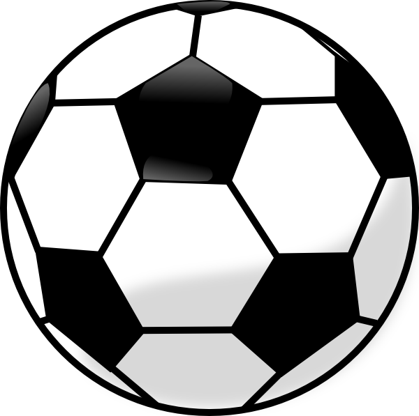 Soccer ball coloring pages. Clipart football template