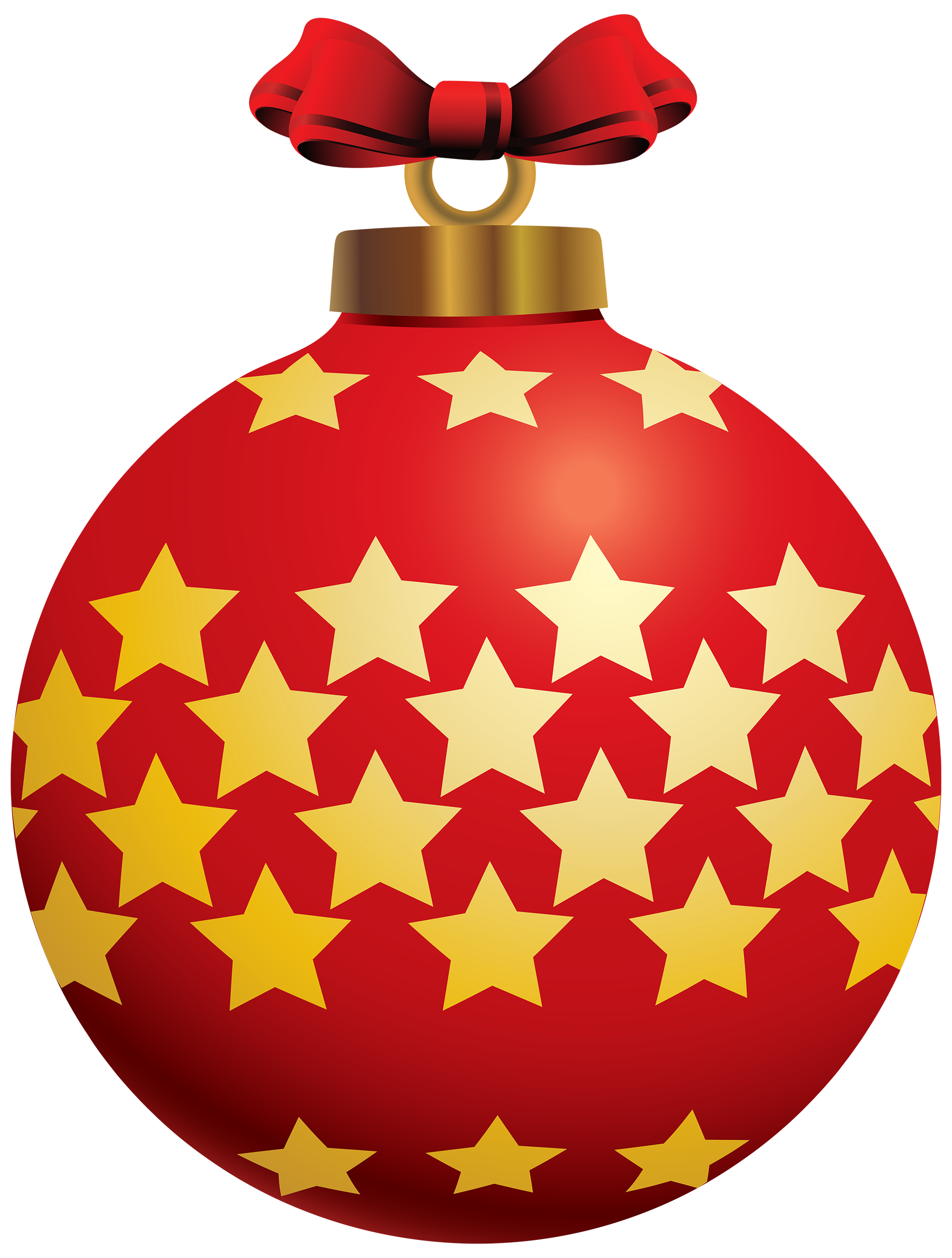 Clipart stars ball. Red christmas with png