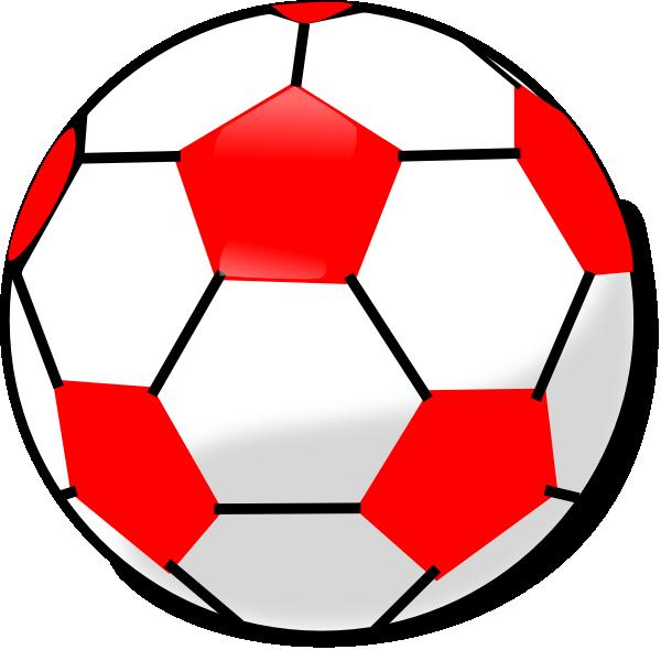 Clipart football red. Soccerball clip art at